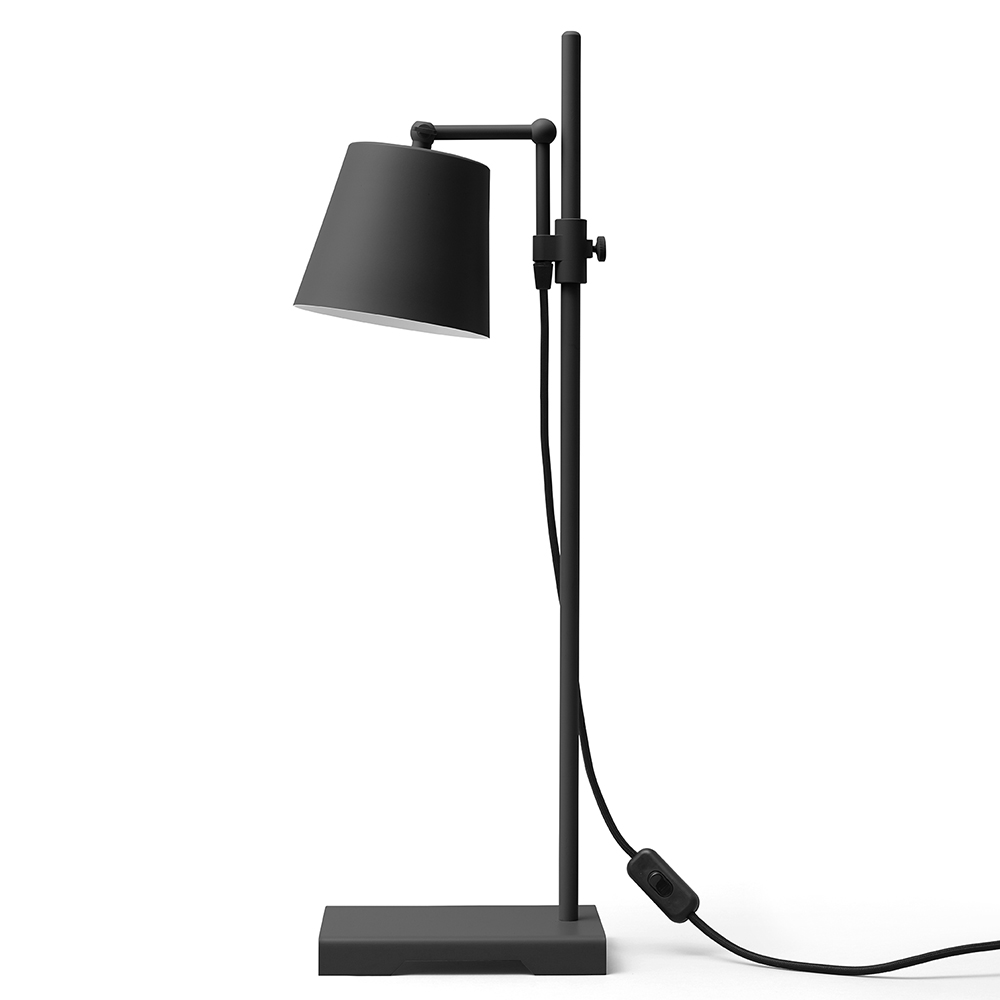steel lab light black table lamp anatomy design karakter