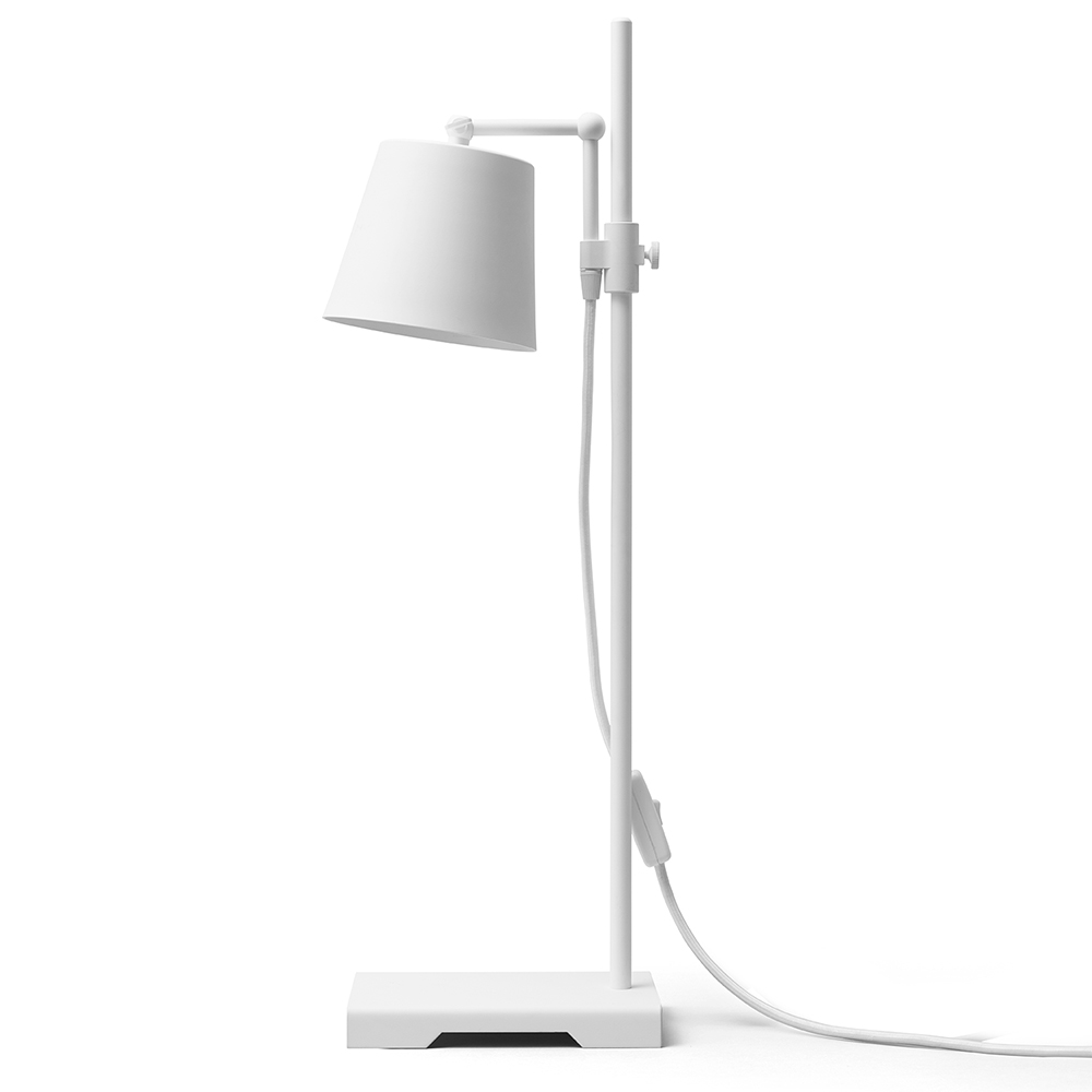 steel lab light white table lamp anatomy design karakter