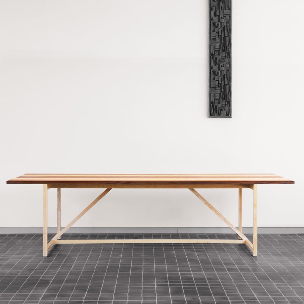 CB 341 stripe 8 table craig bassam scott fellows suite ny bassamfellows
