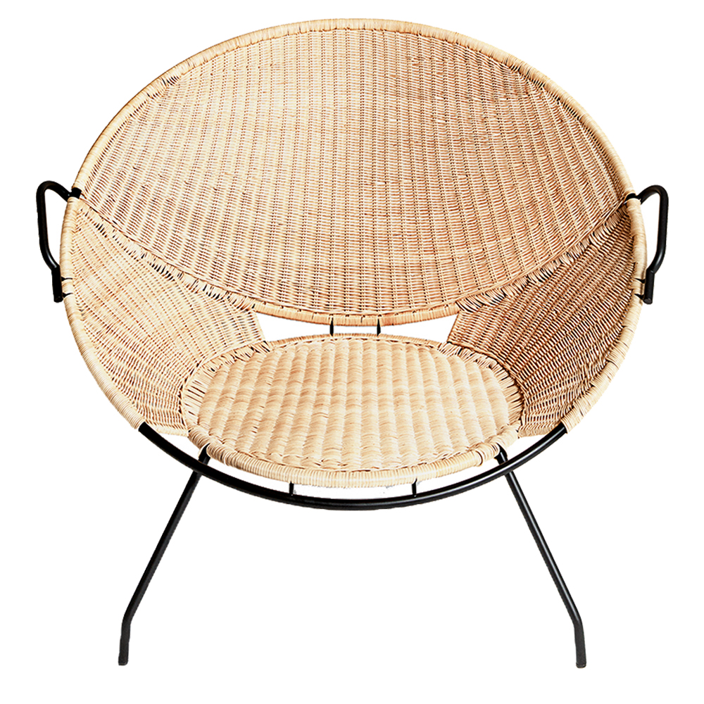t54 de padova modern contemporary designer wicker cane rattan lounge chair