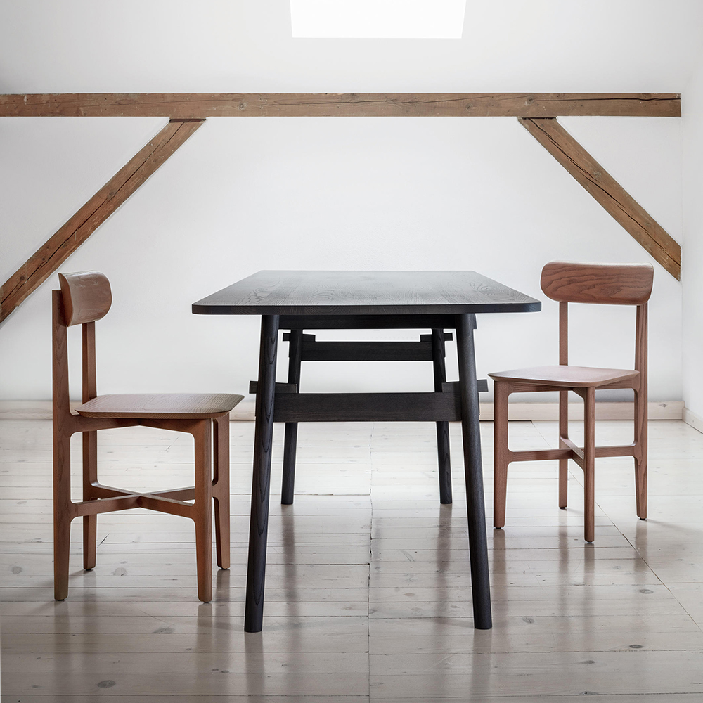 taut klemens grund zeitraum modern contemporary danish designer collapsable solid wood wooden dining work table