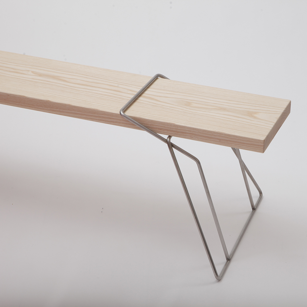 torben skov bench a petersen modern designer danish contemporary wood metal bench
