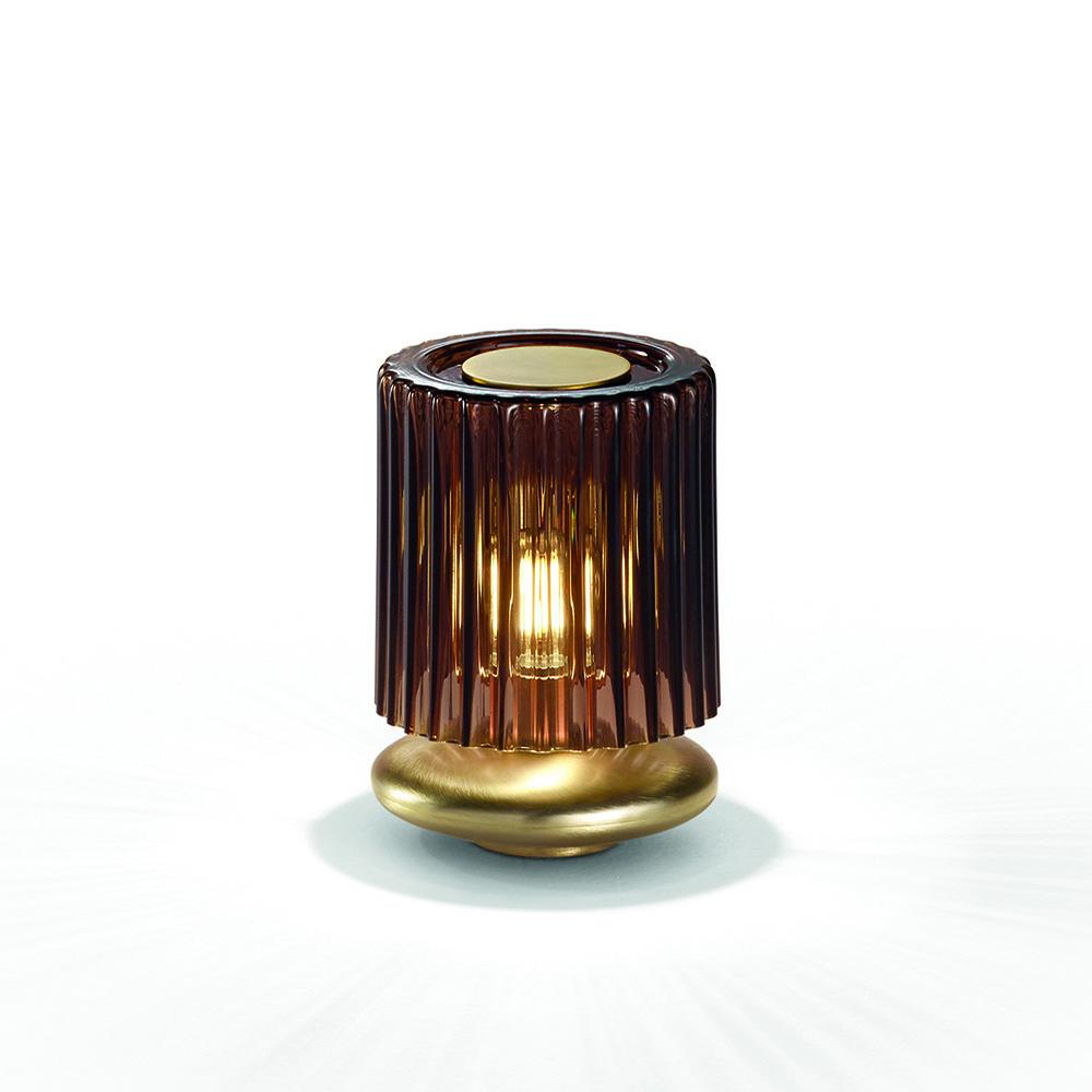 tread table lamp chiaramonte marin vistosi contemporary modern colored glass vintage mid century retro designer table lamp italian designer lighting