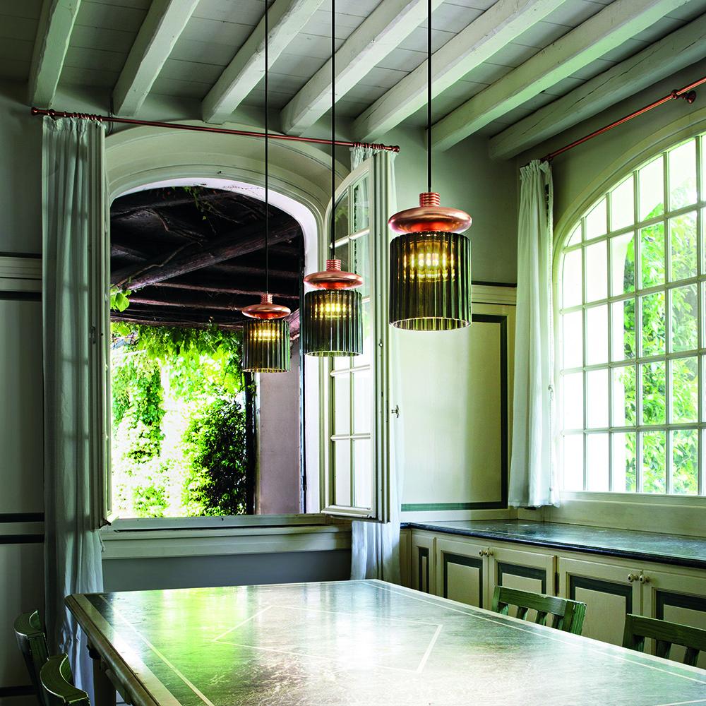 tread suspension lamp modern contemporary glass suspension pendant light
