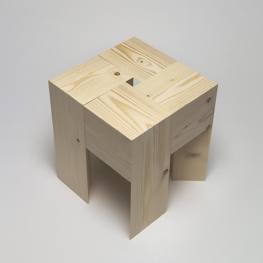tri angle aldo bakker karakter contemporary solid wood stool
