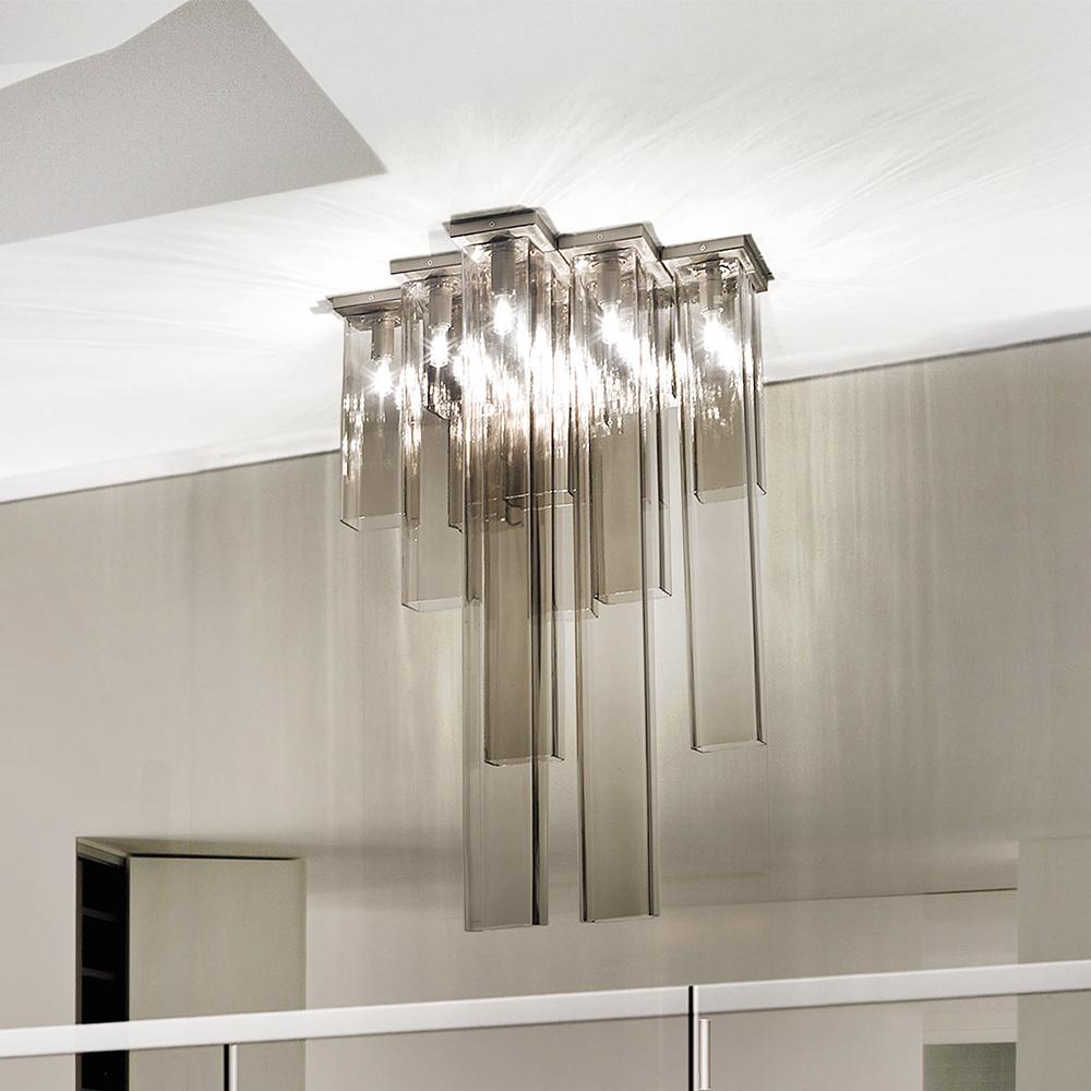 Tubes Matthias Hickl Vistosi modern italian glass ceiling lamp