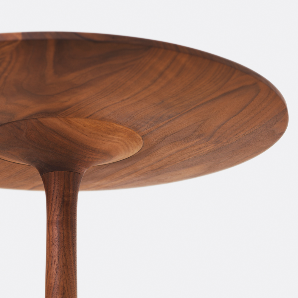 turntable side table occasional formstelle zeitraum wood german design dining furniture contemporary suite ny
