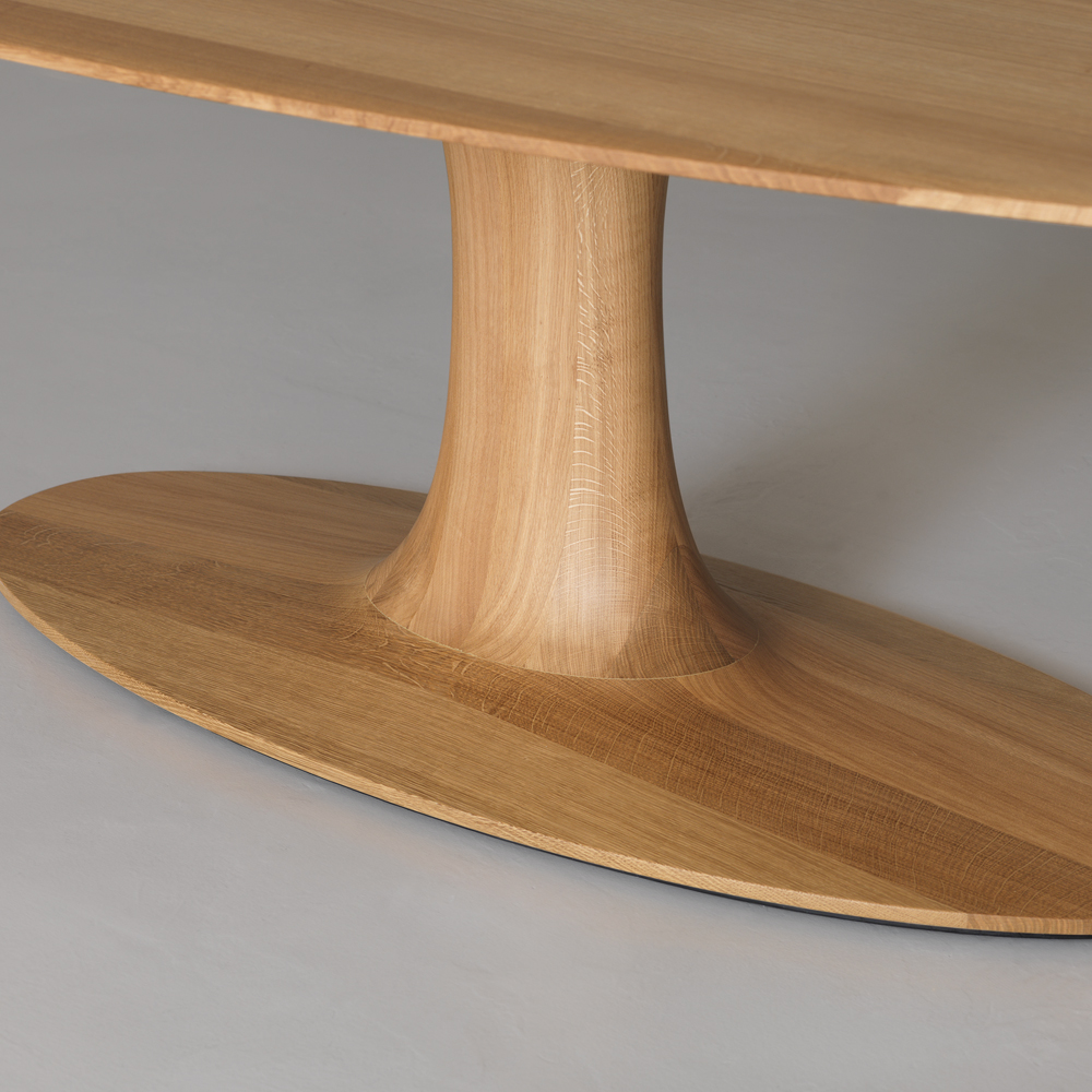 turntable oval oak base detail formstelle zeitraum suite ny