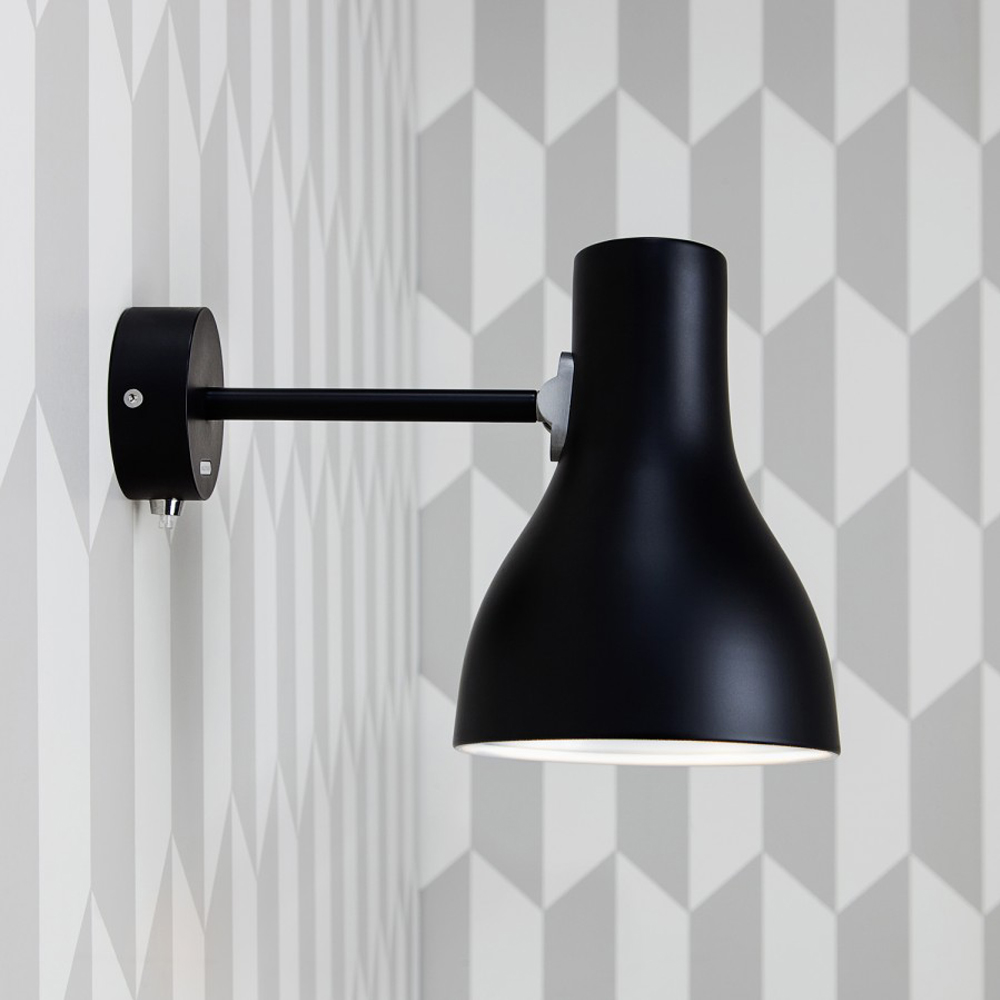 type 75 wall lamp brushed aluminum sir kenneth grange suite ny anglepoise