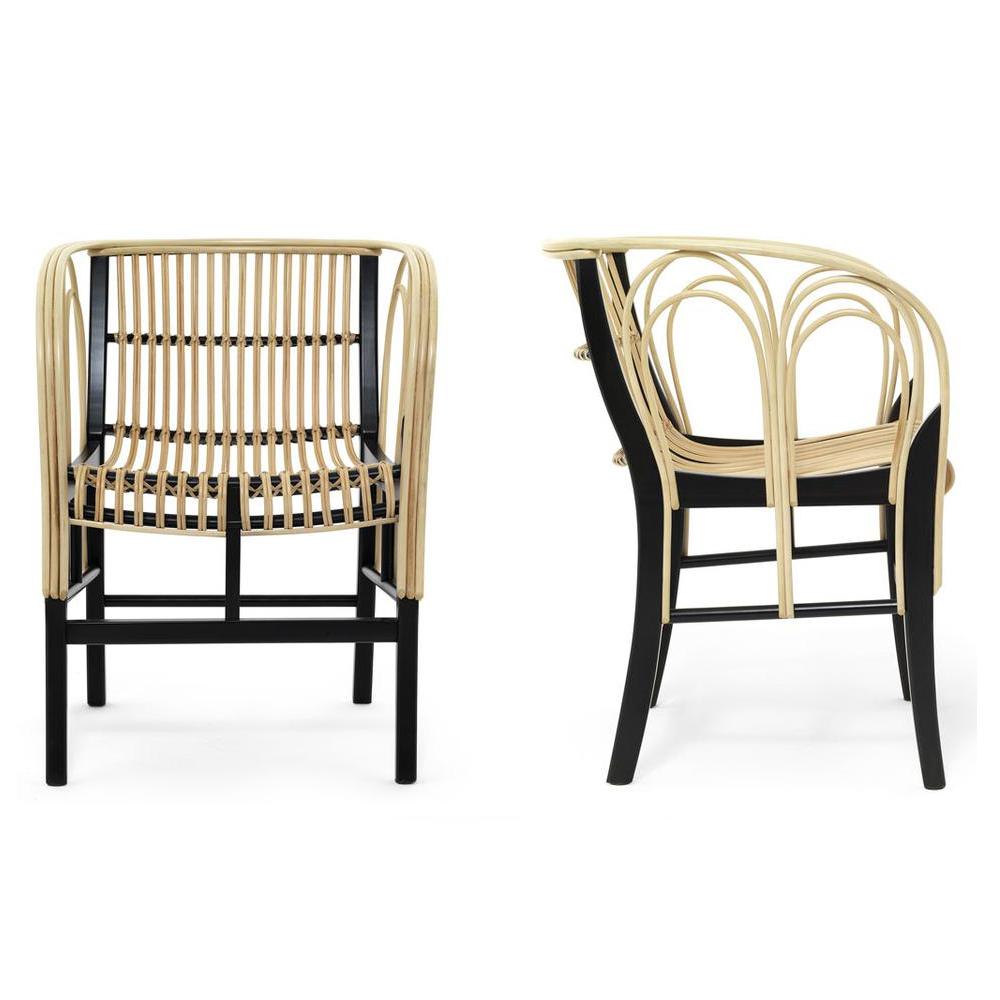 Uragano Chair Vico Magistretti De Padova wicker armchair modern italian design