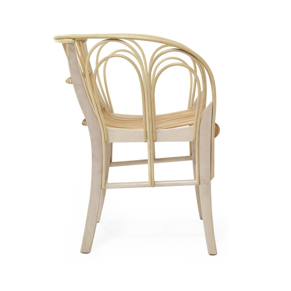 Uragano Chair Vico Magistretti De Padova wicker armchair modern italian design oak