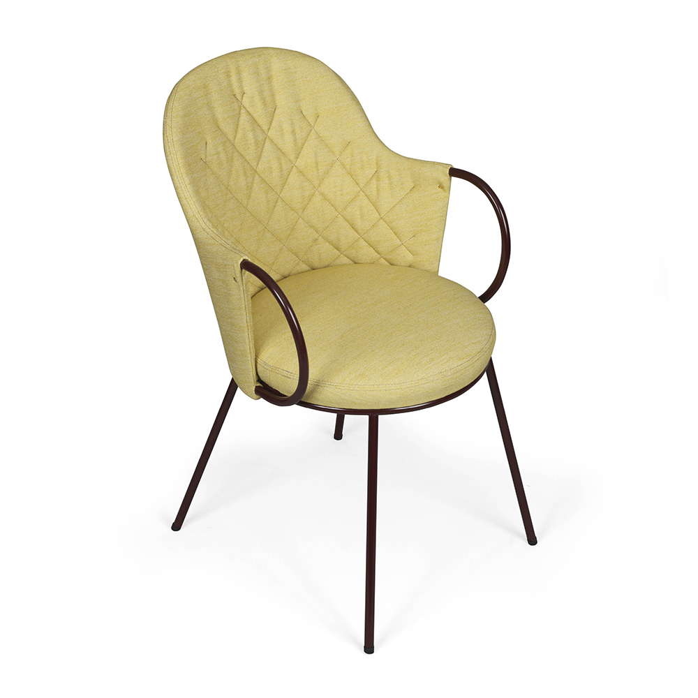 vienna pierre sindre kallemo contemporary modern designer quilted back upholstered dining chair