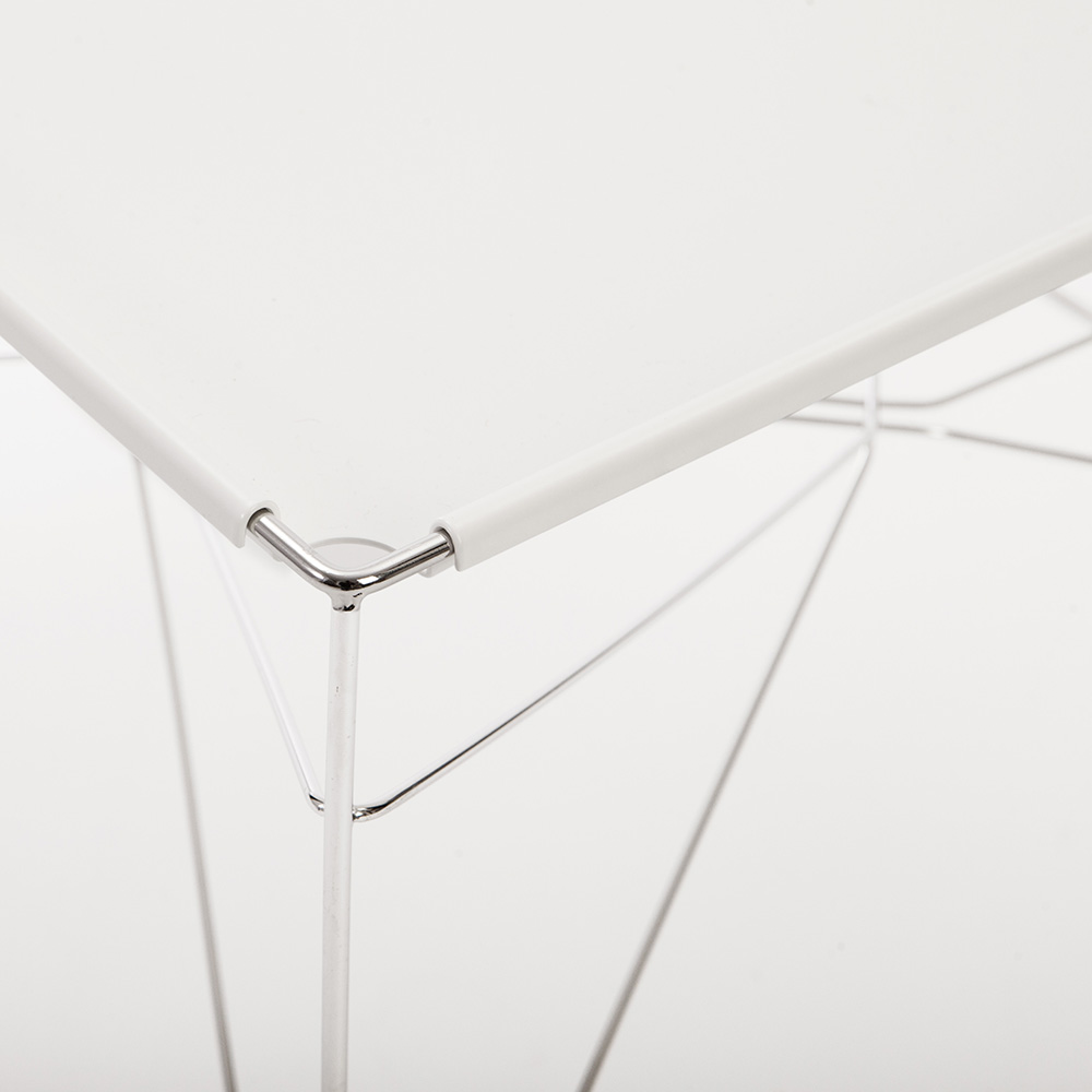 wire table ole schjoll a petersen contemporary designer modern minimalist steel square dining table
