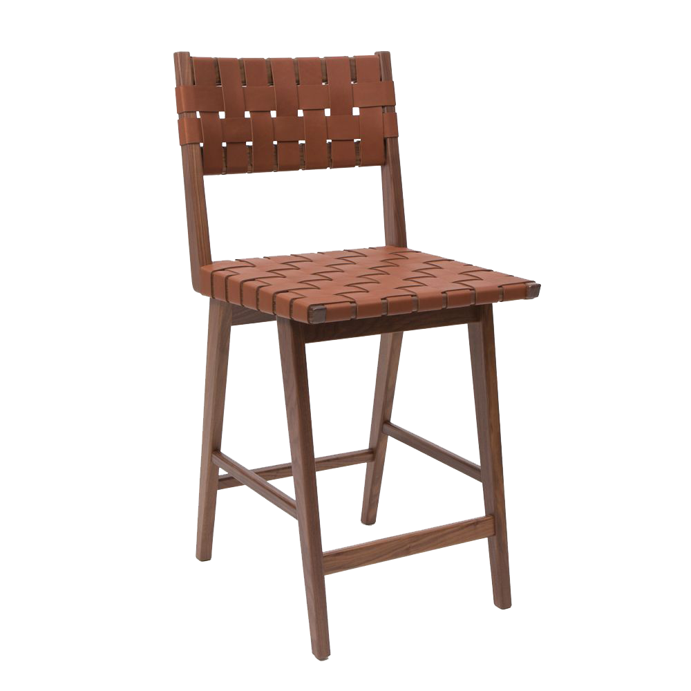 Smilow Furniture woven leather dining stool mel smilow walnut counter stool barstool