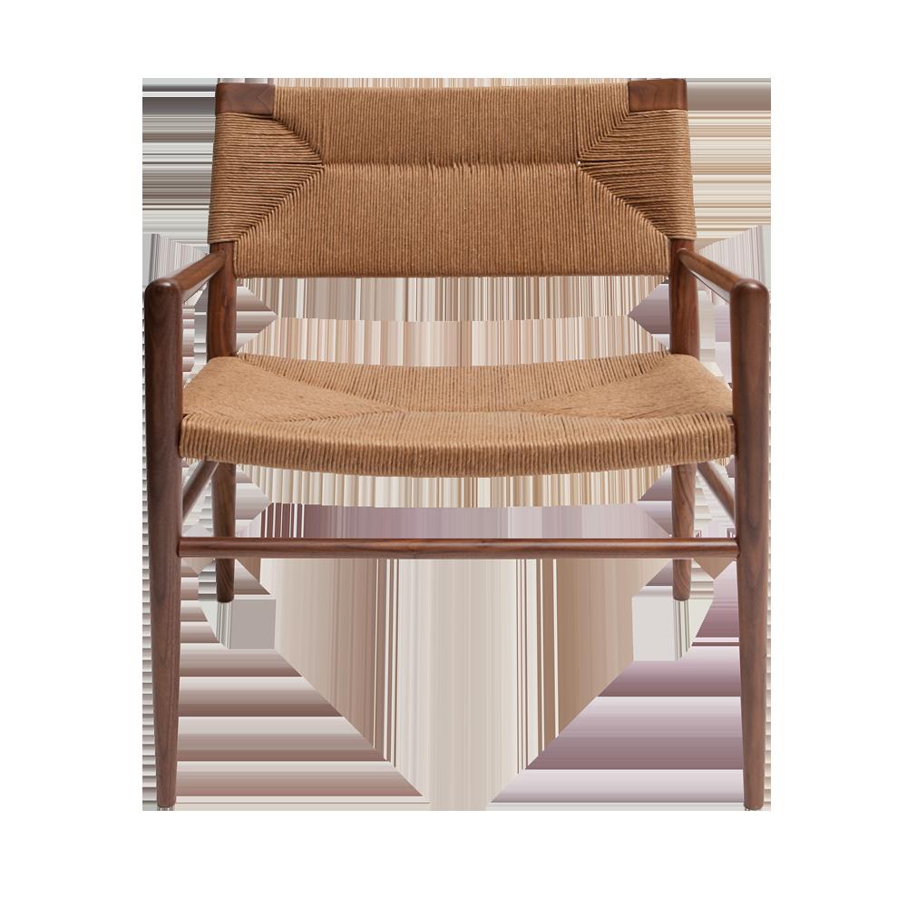 Woven Rush Lounge Chair Mel Smilow midcentury modern furniture