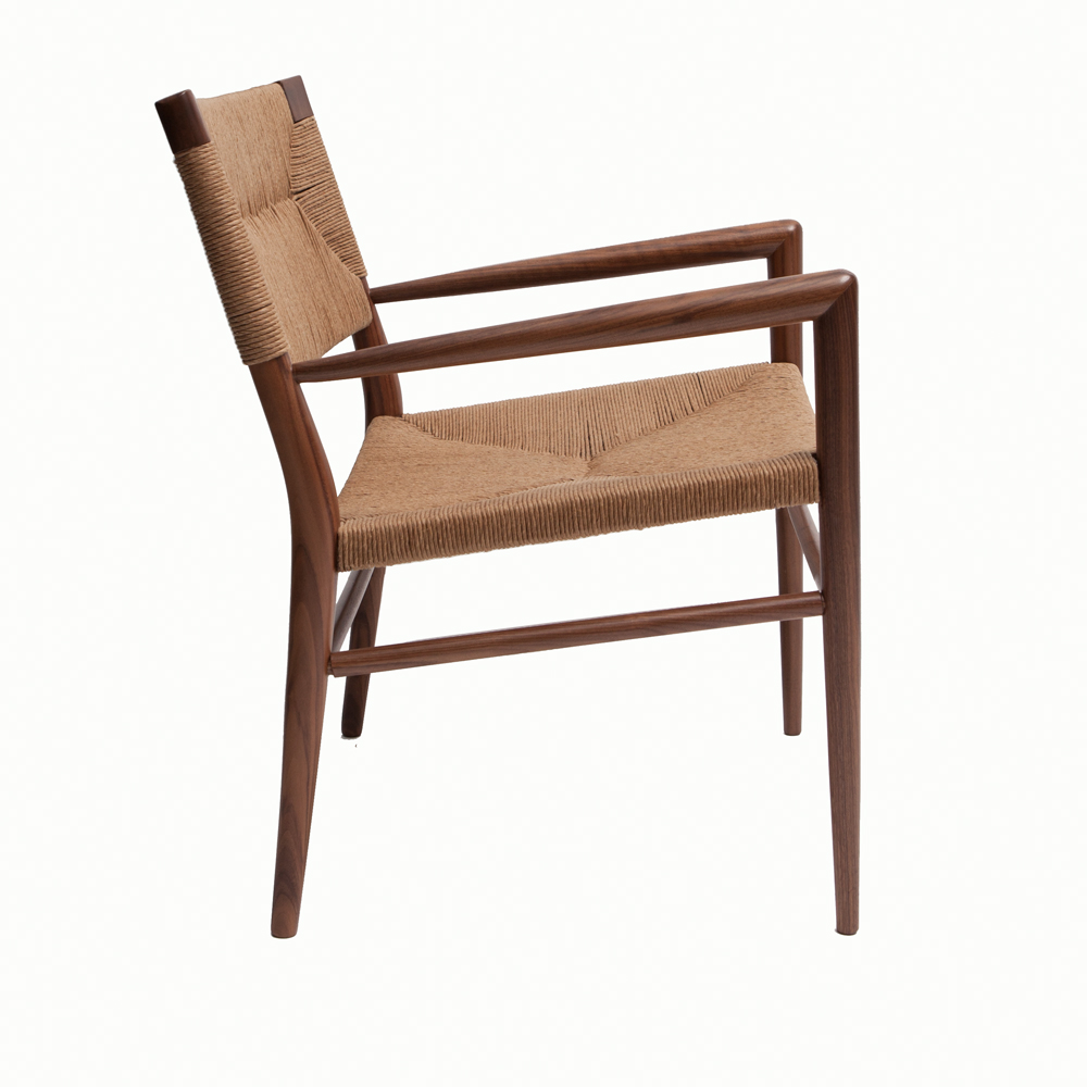 Woven Rush Lounge Chair Mel Smilow midcentury modern furniture