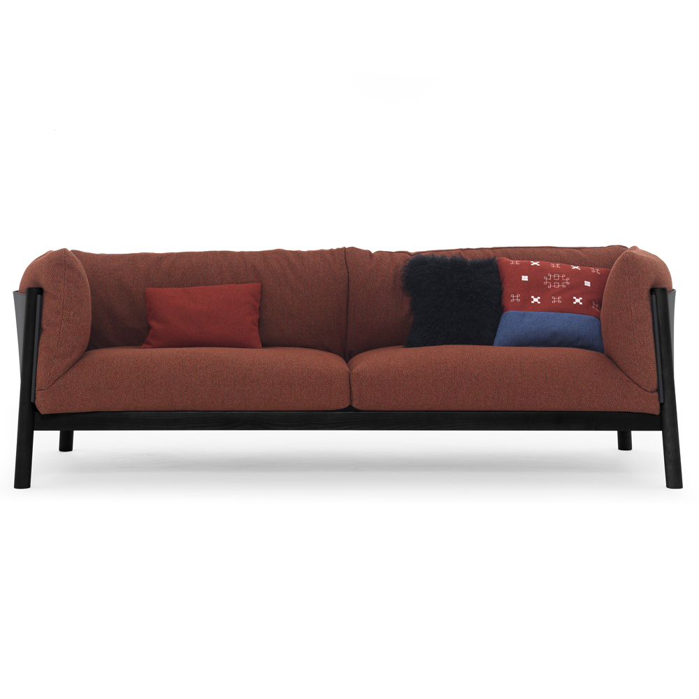 Yak sofa lucidi pevere depadova modern italian design de padova lucidipevere primitive leather black