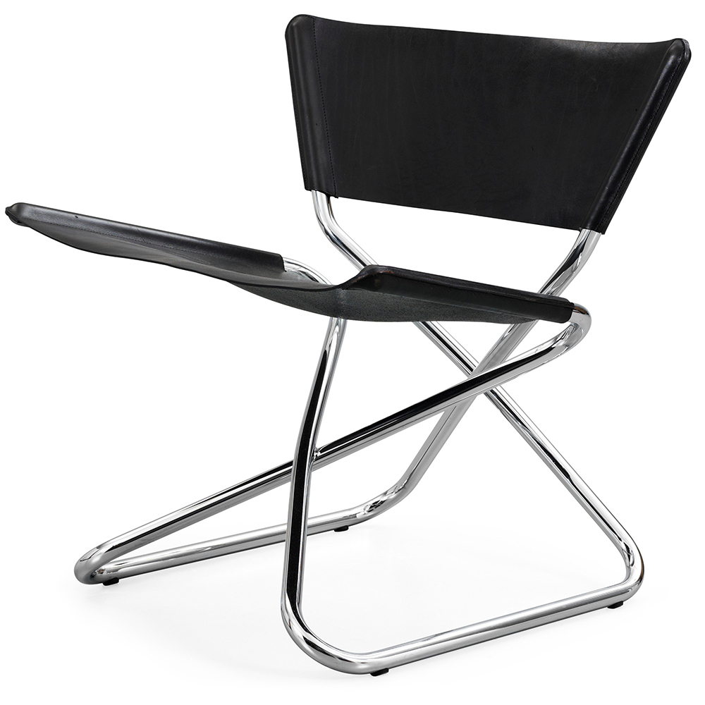 zdown folding chair erik magnussen engelbrechts contemporary modern designer leather chrome folding chair