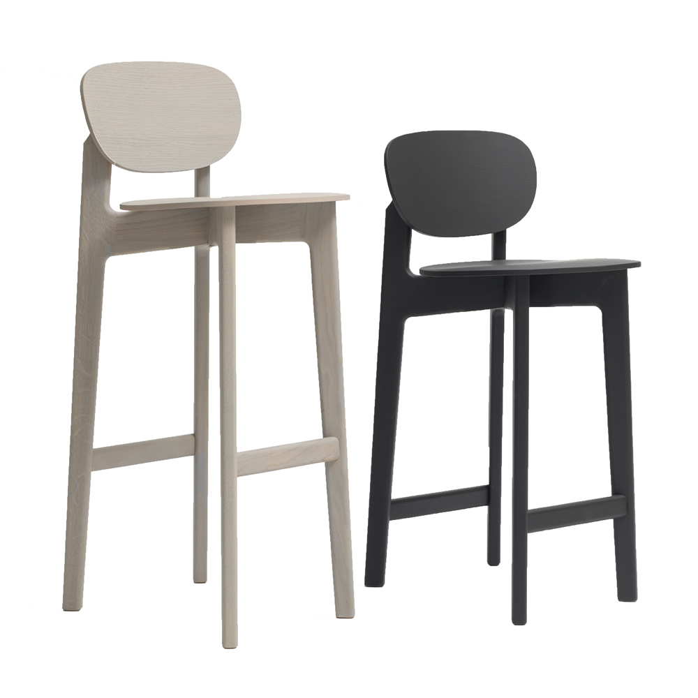 zenso bar stool formstelle zeitraum modern contemporary designer solid wood upholstered bar stool
