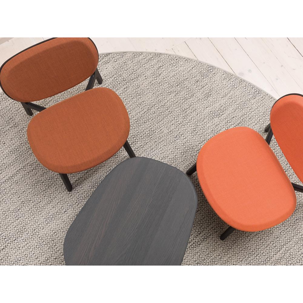 Zenso Lounge Chair Designer Modern Contemporary European Upholstered Wooden Seating Zeitraum