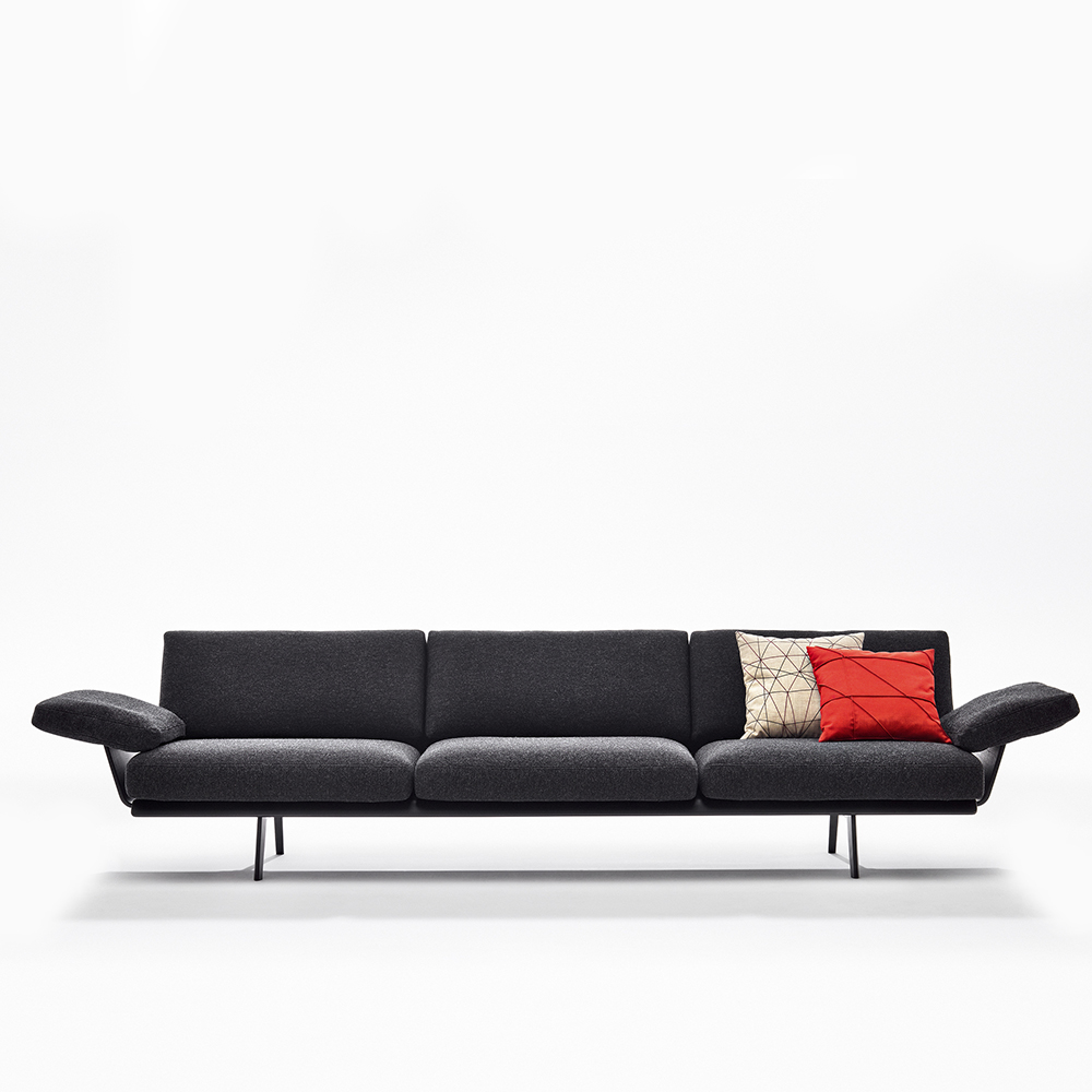 Zinta modular sofa Lievore Altherr Molina italian sectional Arper couch black