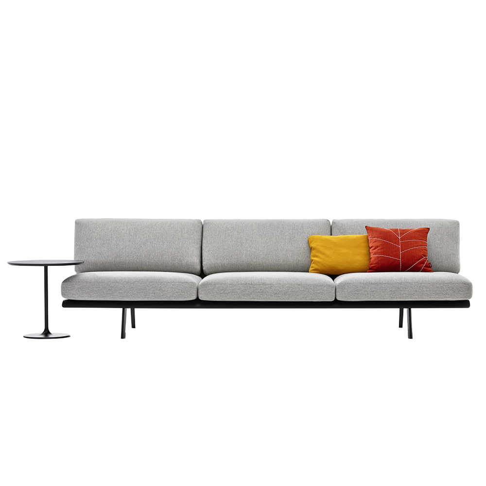 Zinta modular sofa Lievore Altherr Molina italian sectional Arper couch grey