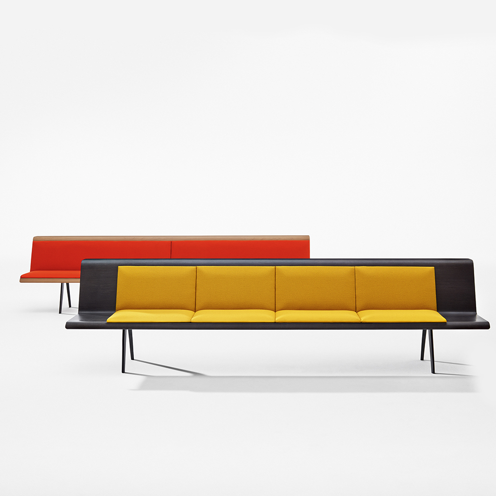 Zinta modular sofa Lievore Altherr Molina italian sectional Arper couch yellow red