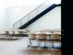 Shop SUITE NY for the Catifa 53 chair by Lievore Altherr Molina as seen in this modern cafeteria or contemporary dining hall. SUITE NY is the premier source for contemporary commercial furnishings and contract design.