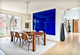 Shop SUITE NY for GUBI 5 modern dining chairs and Bloque contemporary wood table by Zeitraum. Juniper House interior design by Kimberley Demmy Design in Boulder Colorado. SUITE NY is the premier destination for modern home furniture, lighting and accessories.