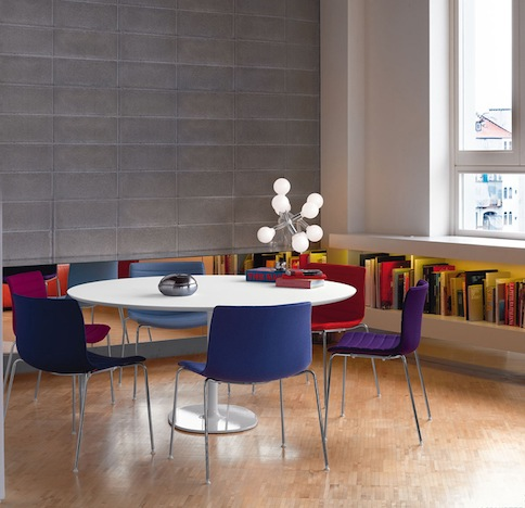 Shop SUITE NY for the Catifa 53 chair by Lievore Altherr Molina as seen in this modern break room. SUITE NY is the premier source for contemporary commercial furnishings and contract design.