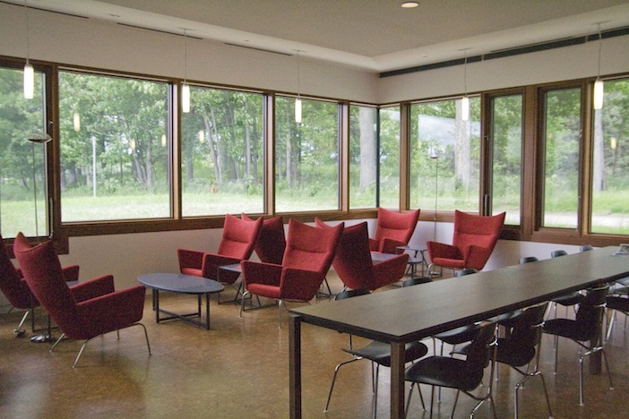 Shop SUITE NY for the CH445 Wing chair by Hans J. Wegner as seen at Bennington College in Vermont by Tod Williams and Billie Tsien. SUITE NY is the premier source for contemporary commercial furnishings and contract design.