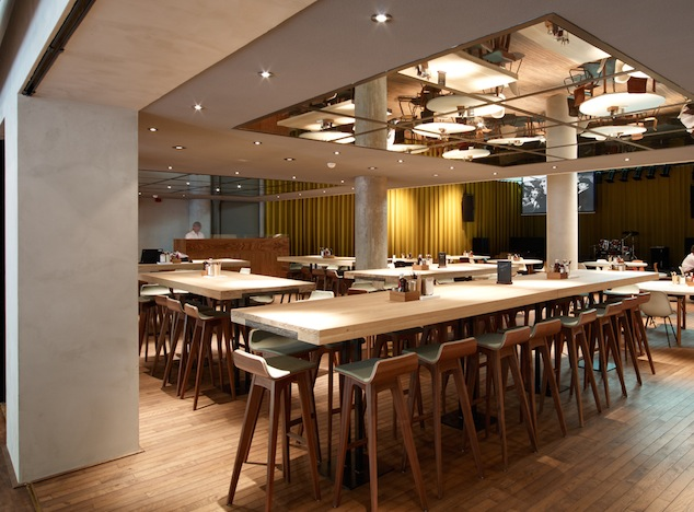 Shop SUITE NY for the Morph stool by Formstelle as seen in the Tommy Hilfiger Restaurant in The Netherlands. SUITE NY is the premier source for contemporary commercial furnishings and contract design.