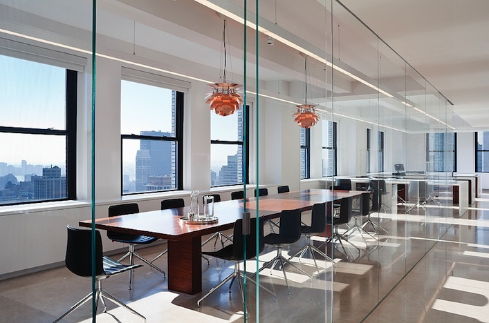 Shop SUITE NY for the Catifa 46 chair chair by Lievore Altherr Molina as seen in the Keffi Group's modern conference room designed by Desai Chia. SUITE NY is the premier source for contemporary commercial furnishings and contract design.