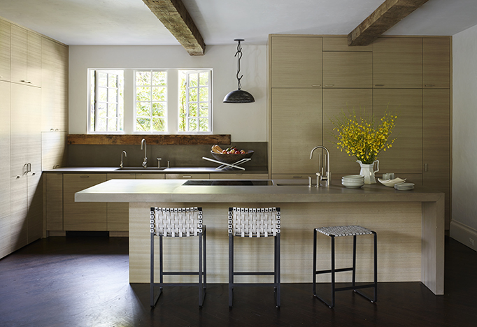 Darryl Carter Washington DC modern spanish colonial richard powers mark albrecht woven leather barstools counter stools