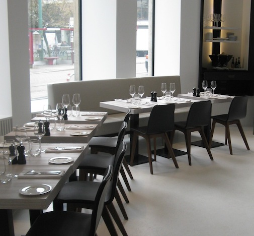 Shop SUITE NY for the Morph chair by Formstelle as seen in the Renaissance Restaurant in Antwerp. SUITE NY is the premier source for contemporary commercial furnishings and contract design.
