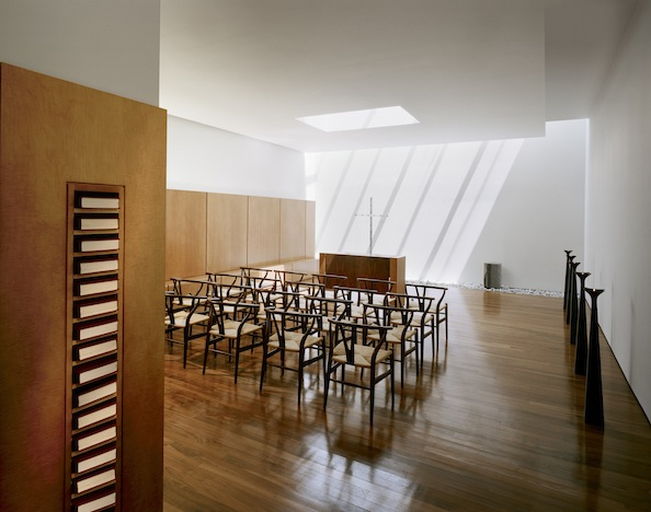 Shop SUITE NY for the CH24 Wishbone chair by Hans J. Wegner as seen in the Johnson Chapel by BRB Architects. SUITE NY is the premier source for contemporary commercial furnishings and contract design.