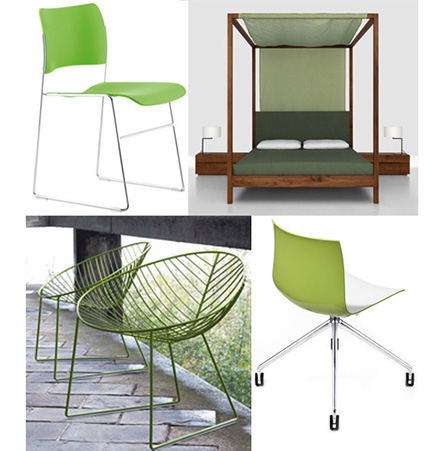 Eco-friendly GREEN modern furniture from SUITENY.COM