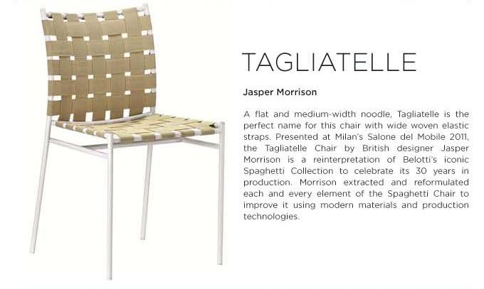 Tagliatelle chair by Jasper Morrison for Alias