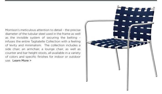 Tagliatelle outdoor chair by Jasper Morrison for Alias