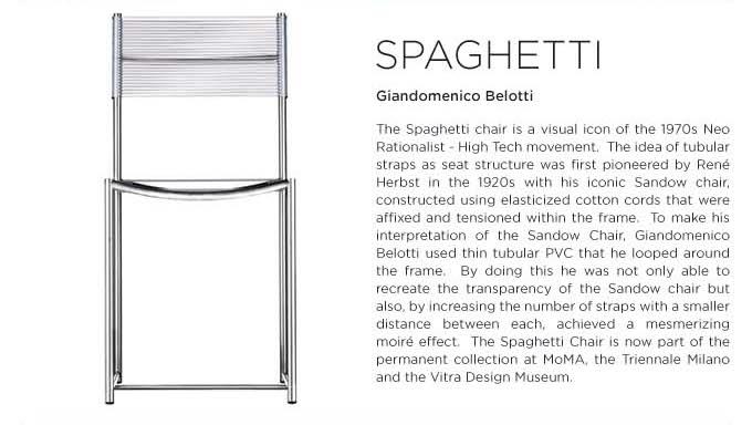 Spaghetti Chair by Giandomenico Belotti for Alias