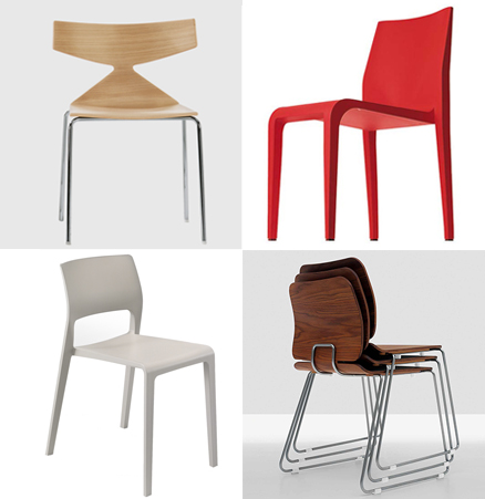 SUITE NY Contemporary Stacking Chairs