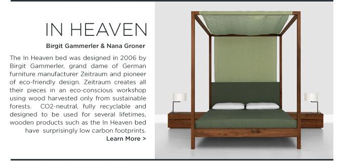 In Heaven modern ecofriendly bed Zeitraum Birgit Gammerler SUITE NY
