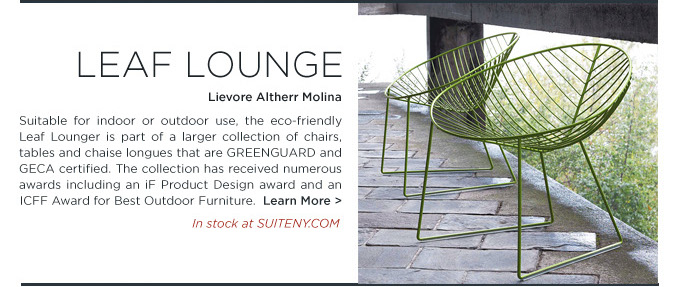 Leaf lounge chair Lievore Altherr Molina Arper modern outdoor lounger