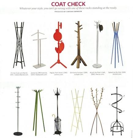 SUITE NY Glass modern coat rack Telegrafo Elle Decor