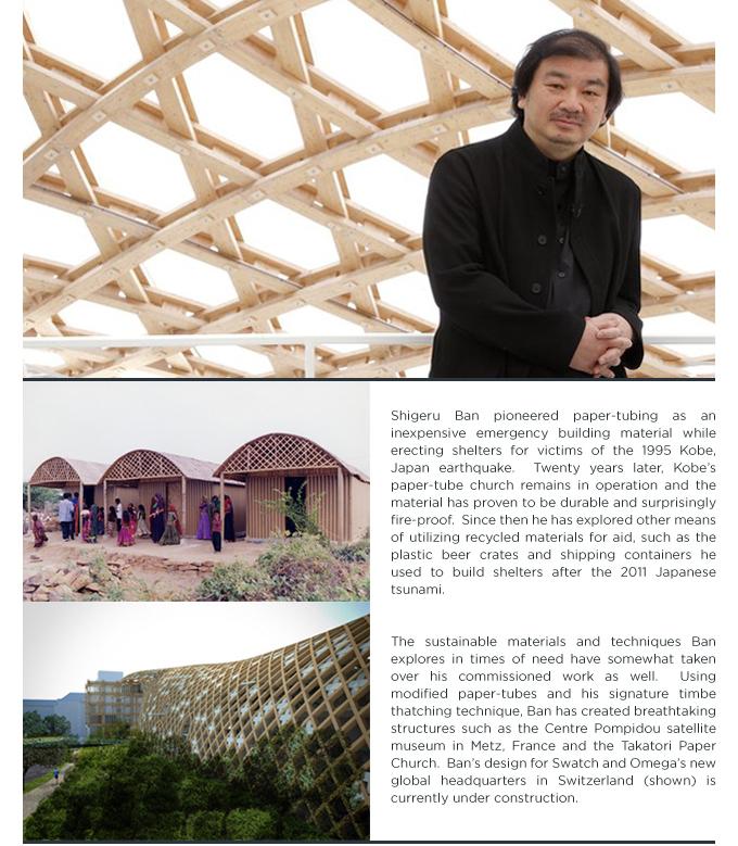 SUITE NY profiles SHIGERU BAN japanese architect centre pompidou