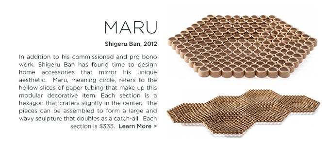 Shigeru Ban, Maru Bowl, cardboard paper tube, modern home accessorys, when objects work