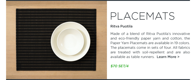 Woodnotes ecofriendly place mats by Ritva Puotila sold as SUITENY.COM