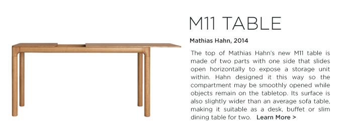 M11 Table, Mathias Hahn, Zeitraum