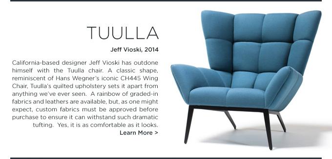 Tuulla, modern tufted armchair, Jeff Vioski, SUITE NY