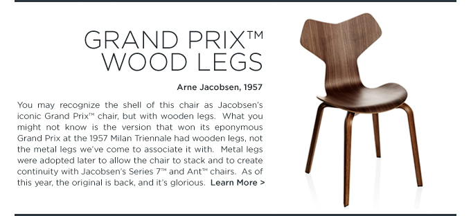 Grand Prix chair wood legs, Arne Jacobsen, Fritz Hansen